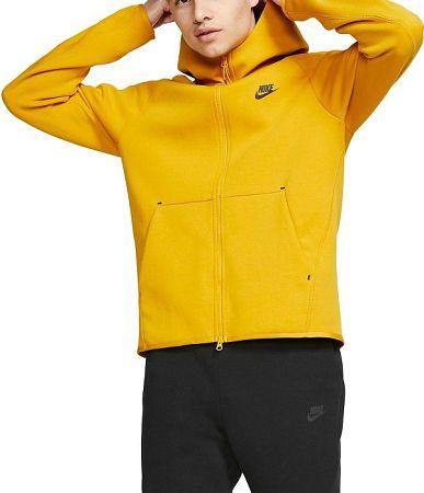 Mikina s kapucňou Nike M NSW TCH FLC HOODIE FZ 928483-743 Veľkosť XL