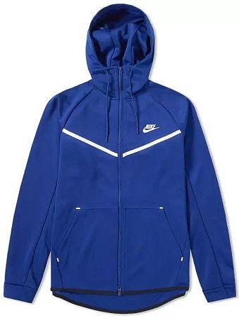 Mikina s kapucňou Nike M NSW WR HOODIE TCH ICON PK aq0823-455 Veľkosť XL