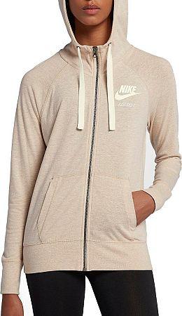 Mikina s kapucňou Nike W NSW GYM VNTG HOODIE FZ 883729-140 Veľkosť XS