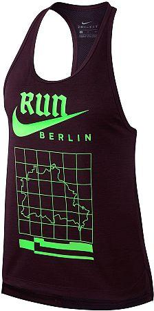 Tielko Nike W NK MILER TANK RACER BER 933495-659 Veľkosť M