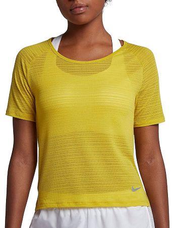 Tričko Nike W NK MILER TOP SS BREATHE 891172-718 Veľkosť L