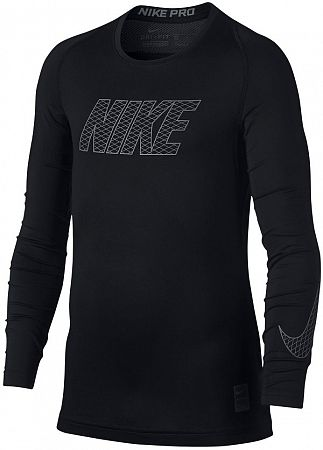Tričko s dlhým rukávom Nike B NP TOP LS COMP 858232-010 Veľkosť S