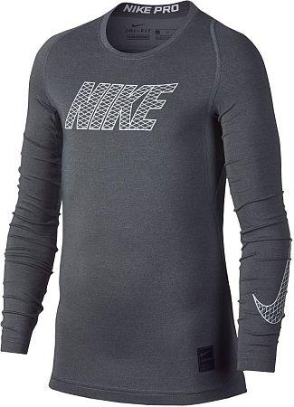 Tričko s dlhým rukávom Nike B NP TOP LS COMP 858232-065 Veľkosť M