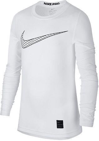 Tričko s dlhým rukávom Nike B NP TOP LS COMP HO18 2 bq2186-100 Veľkosť M
