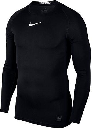 Tričko s dlhým rukávom Nike M NP TOP LS COMP 838077-010 Veľkosť M