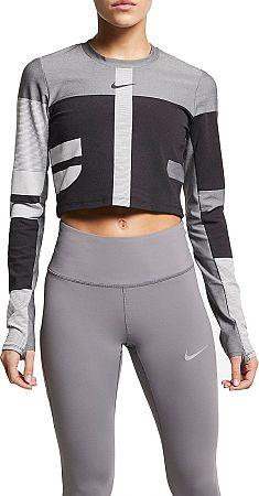 Tričko s dlhým rukávom Nike W NK RN TCH PCK KNT TOP LS ao8674-010 Veľkosť L