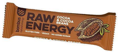 Tyčinka Bombus BOMBUS Raw energy - Cocoa beans50g 11-01