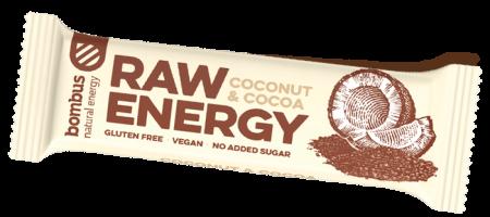 Tyčinka Bombus BOMBUS Raw energy - Coconut+Cocoa 50g 11-02